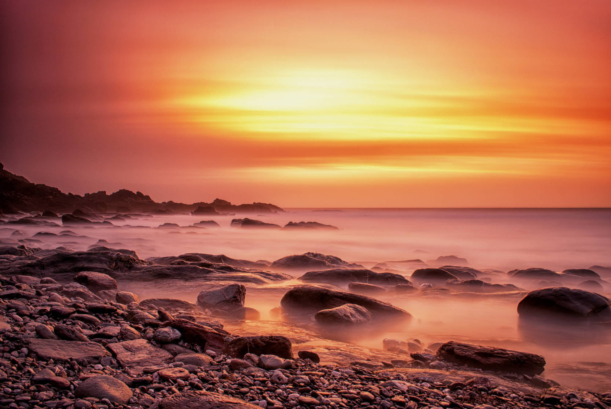 beach-sunset-rocks-hypnotherapy-plymouth